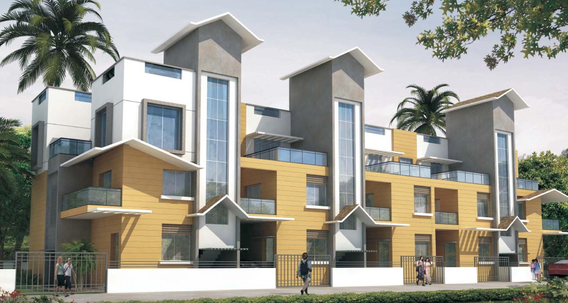 Main elevation image 2 of shree ram villa unit available for Villa elevation photos