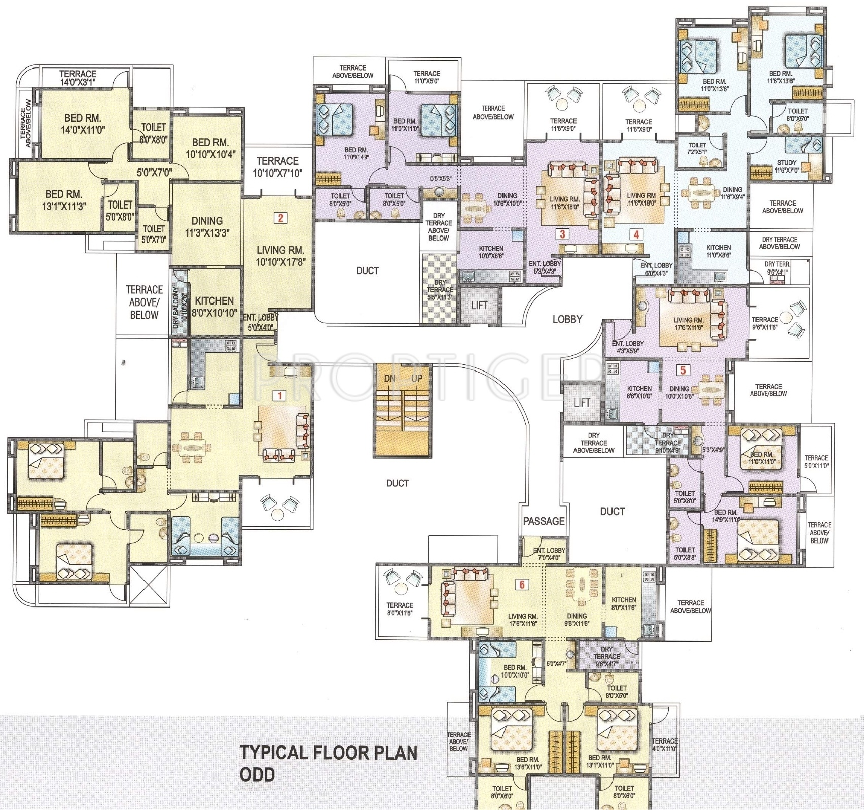 1522 sq ft 3 bhk 3t apartment for sale in kunal venezia for Cluster house plans