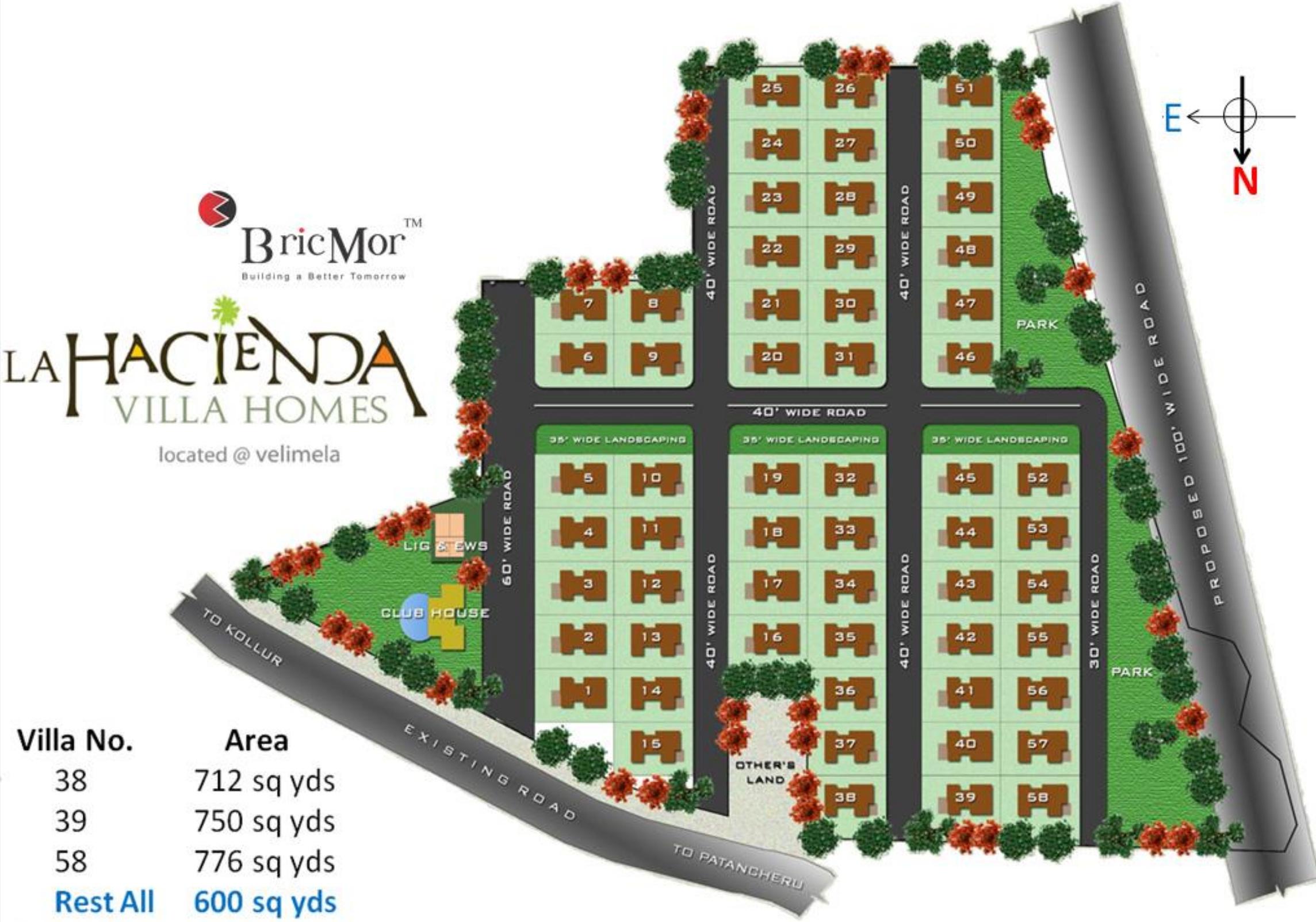 bricmor la hacienda in mokila hyderabad price location map