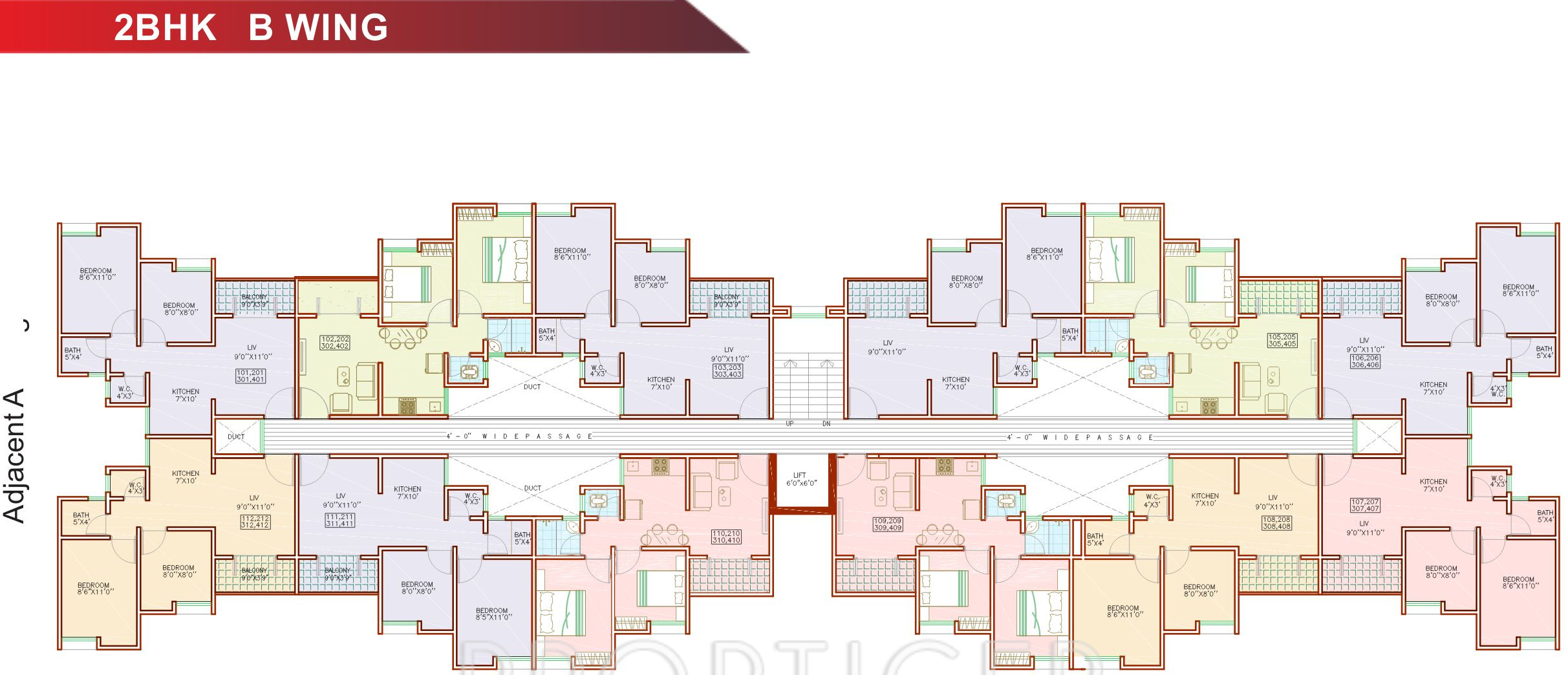 432 sq ft 1 bhk 1t apartment for sale in maple aapla ghar for Ghar plans design