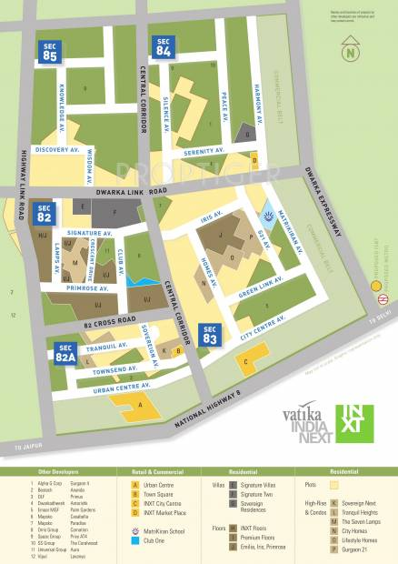 tranquil-heights Images for Master Plan of Vatika Tranquil Heights