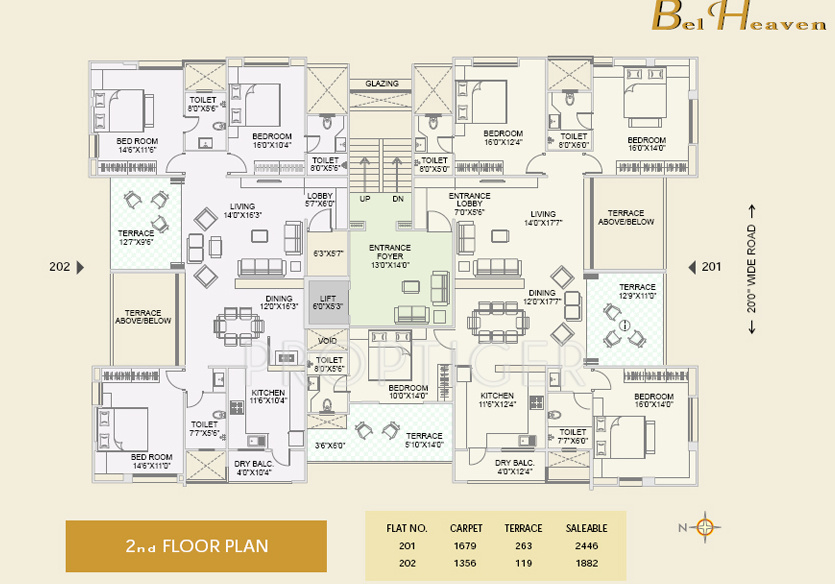 2326 Sq Ft 4 Bhk 4t Apartment For Sale In Alliance