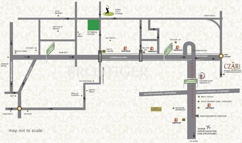 Images for Location Plan of Supertech Czar Villas