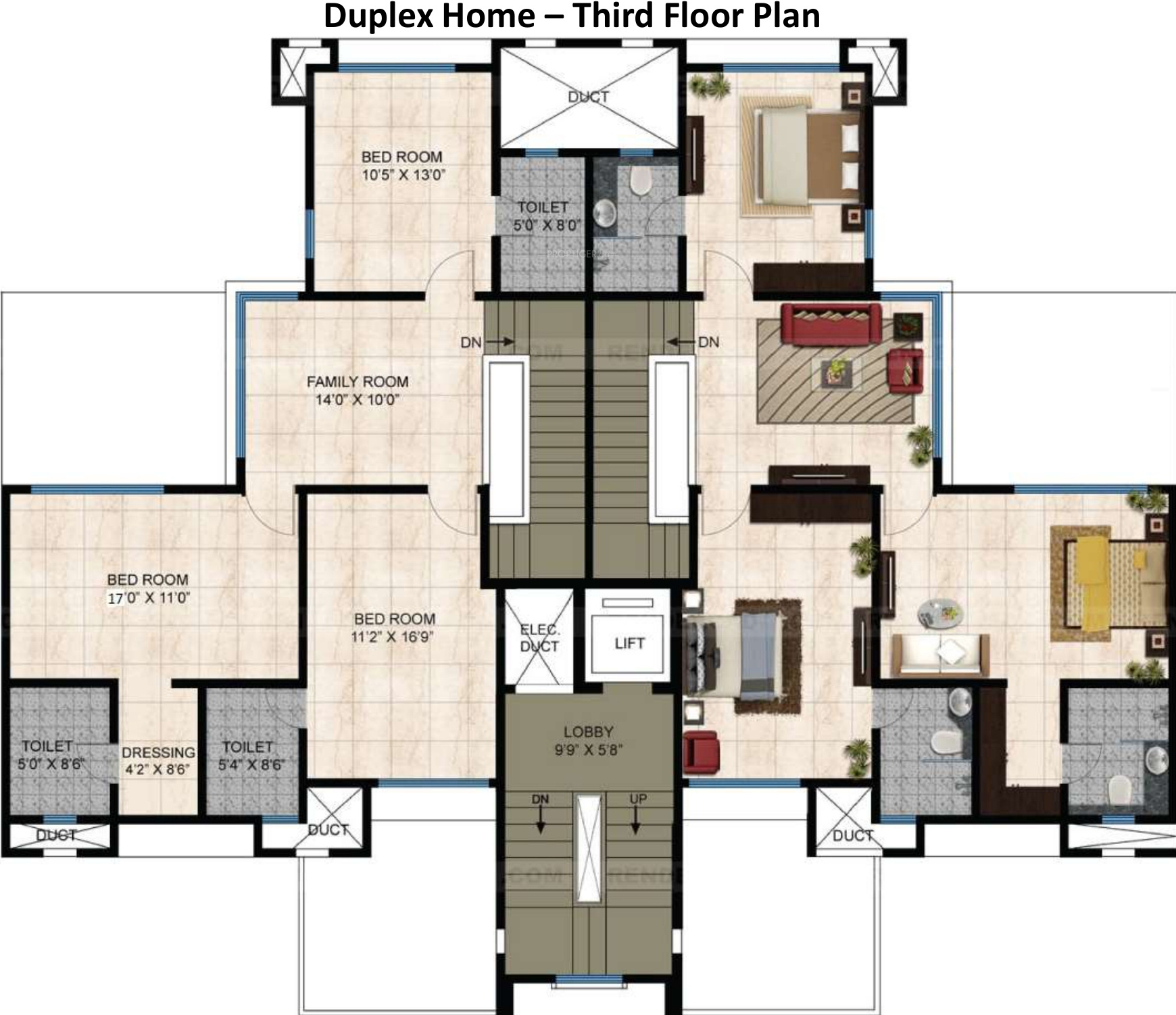 Cluster House Floor Plan: Mahindra Bloomdale Apartment In Mihan, Nagpur