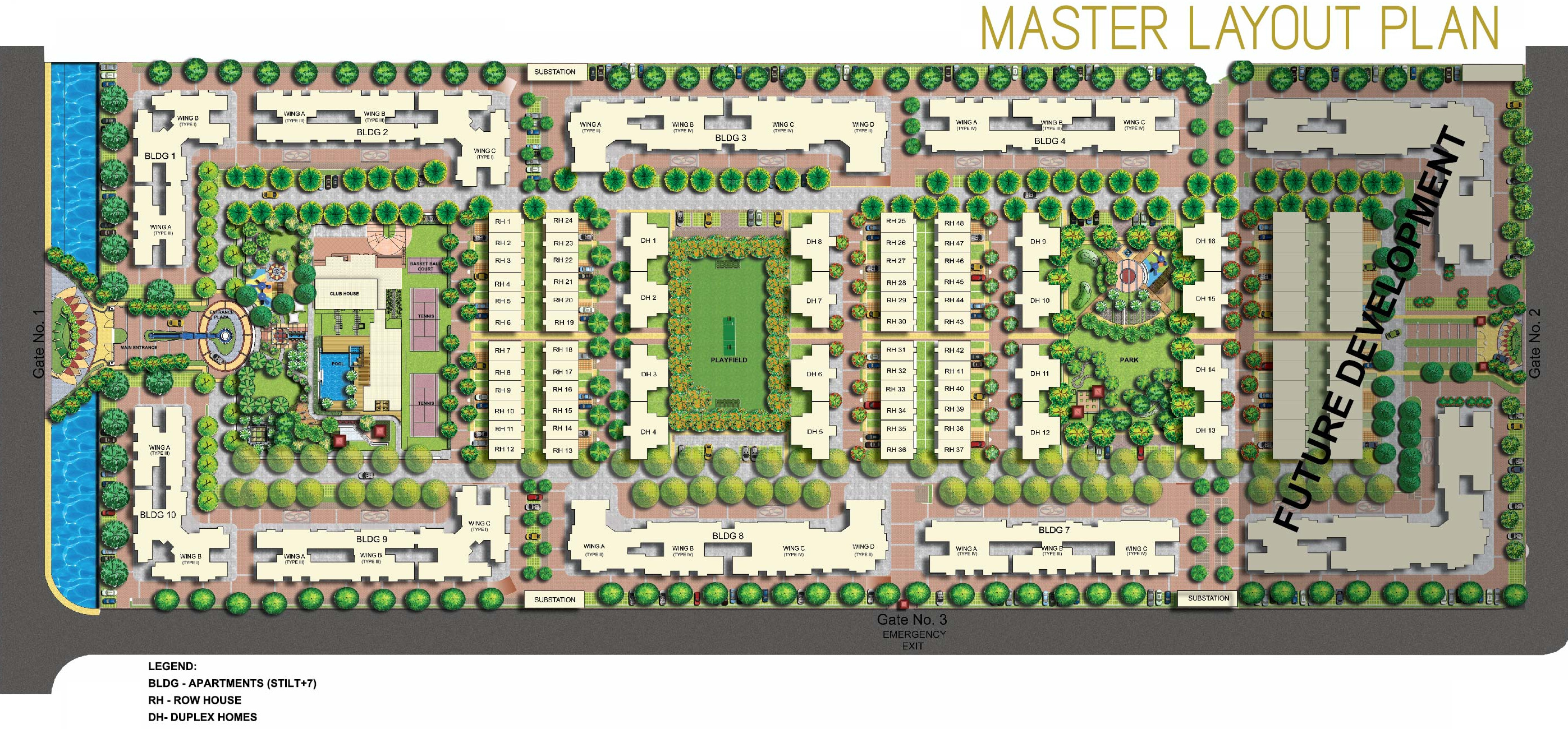 1294 sq ft 2 bhk 2t apartment for sale in mahindra for Apartment master plans