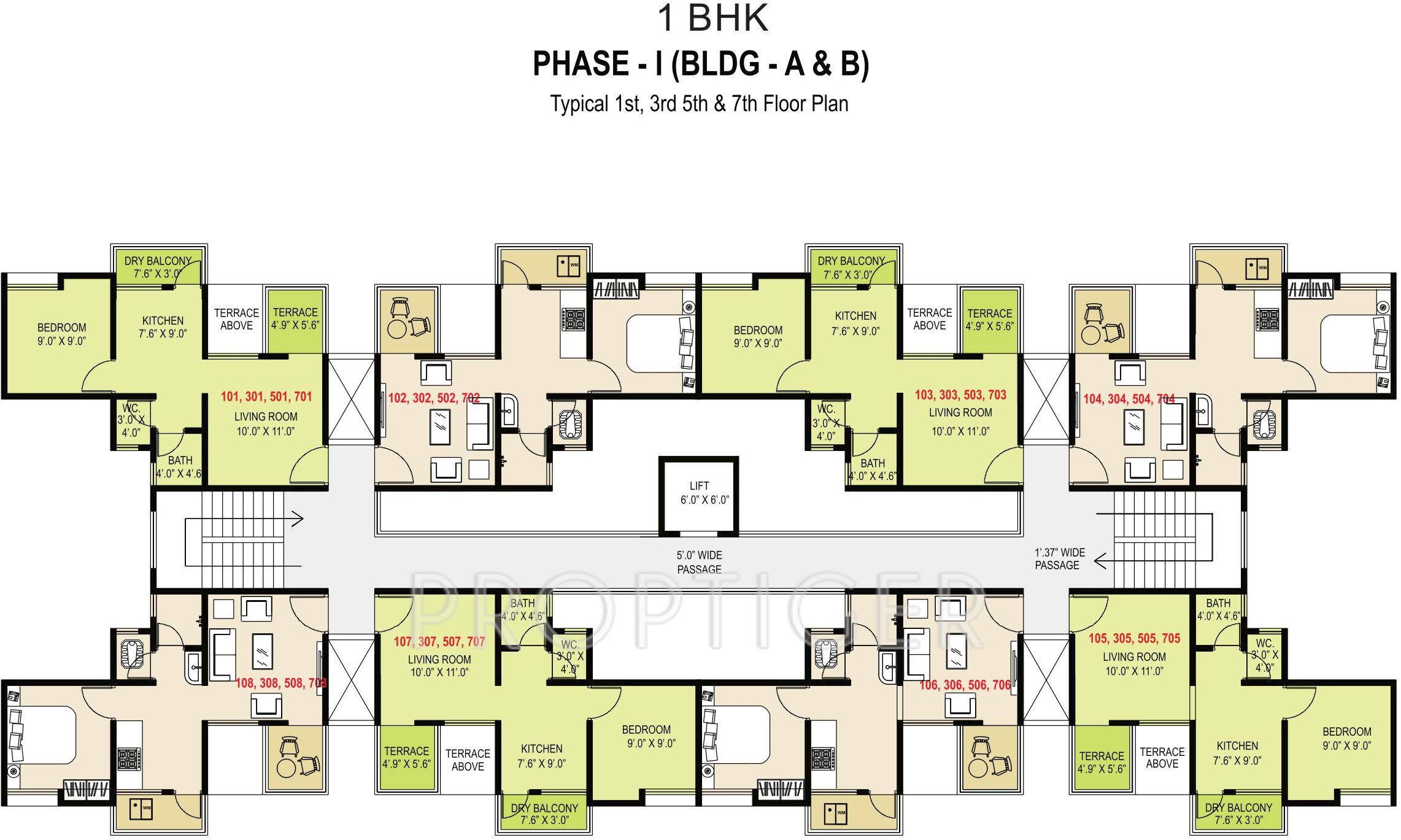 625 sq ft 1 bhk 1t apartment for sale in maple aapla ghar for Aging in place house plans