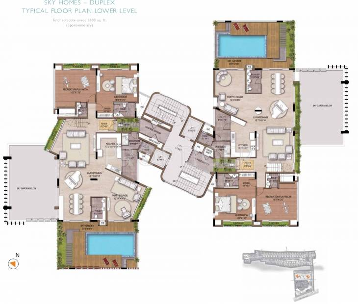 Images for Cluster Plan of Olympia Reflection Sky Homes