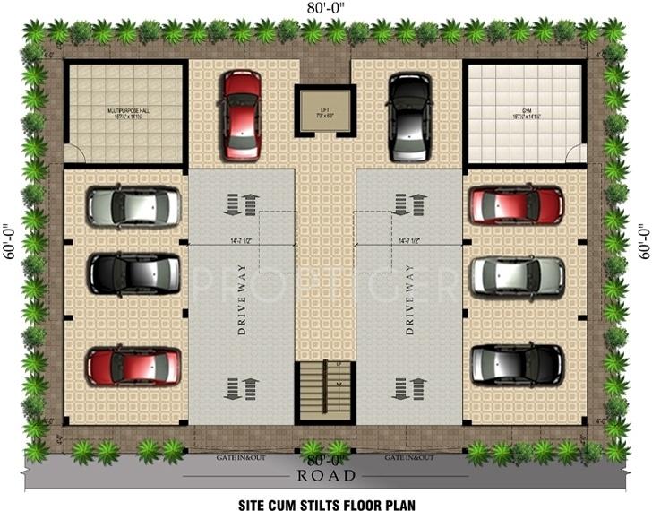 arasur-builders aashirwad Aashirwad Cluster Plan for Stilt Floor