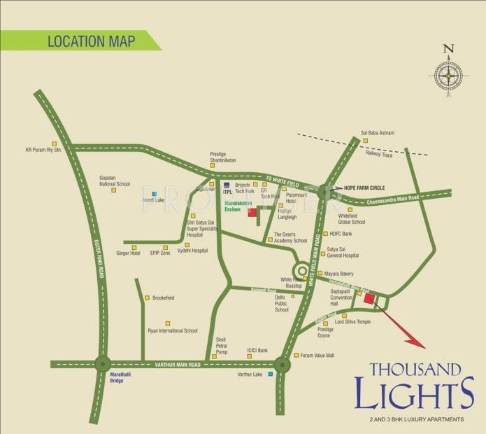 thousand-lights Images for Location Plan of Northgate Thousand Lights