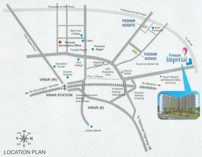 Images for Location Plan of Poonam Imperial