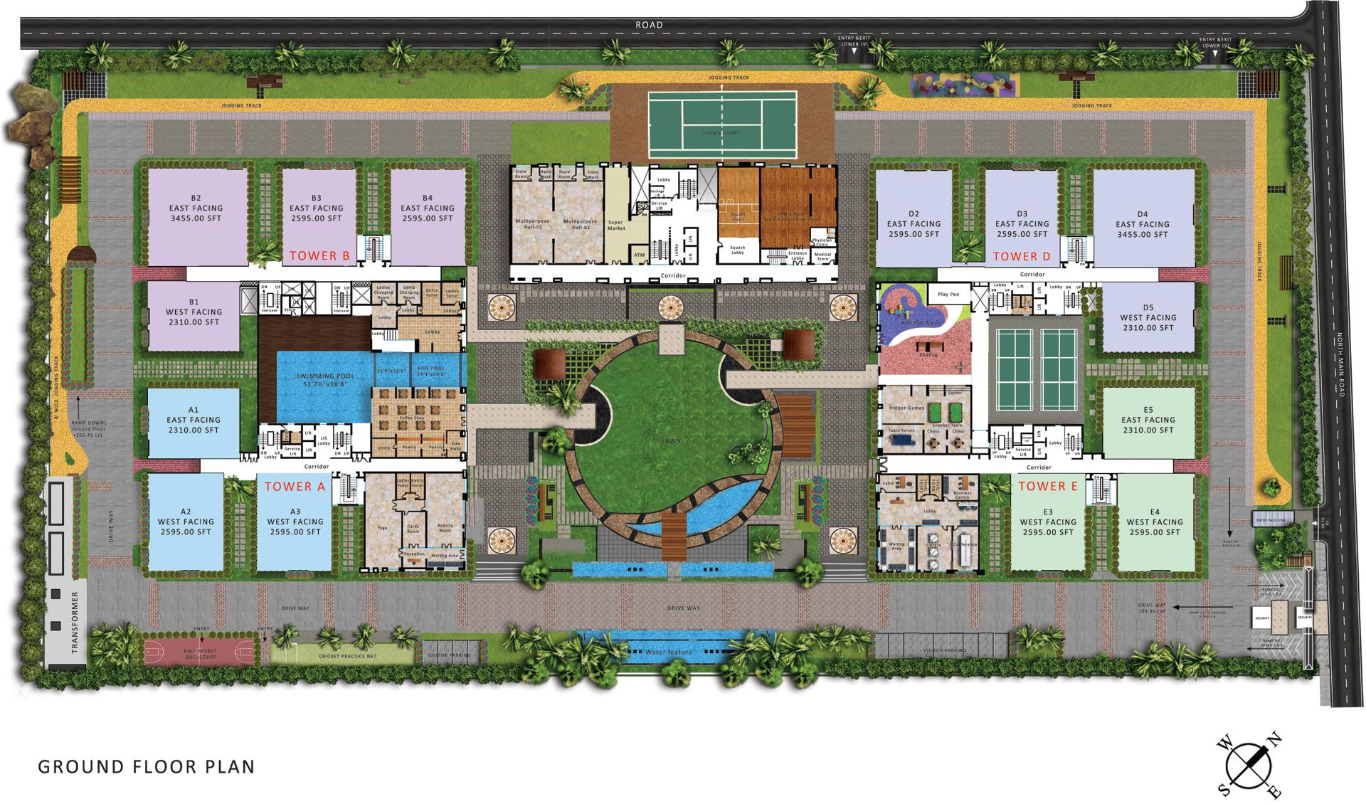 my abhra in madhapur hyderabad price location map floor plan