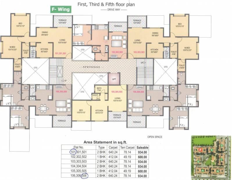 Images for Cluster Plan of SGL Vishwajeet Residency