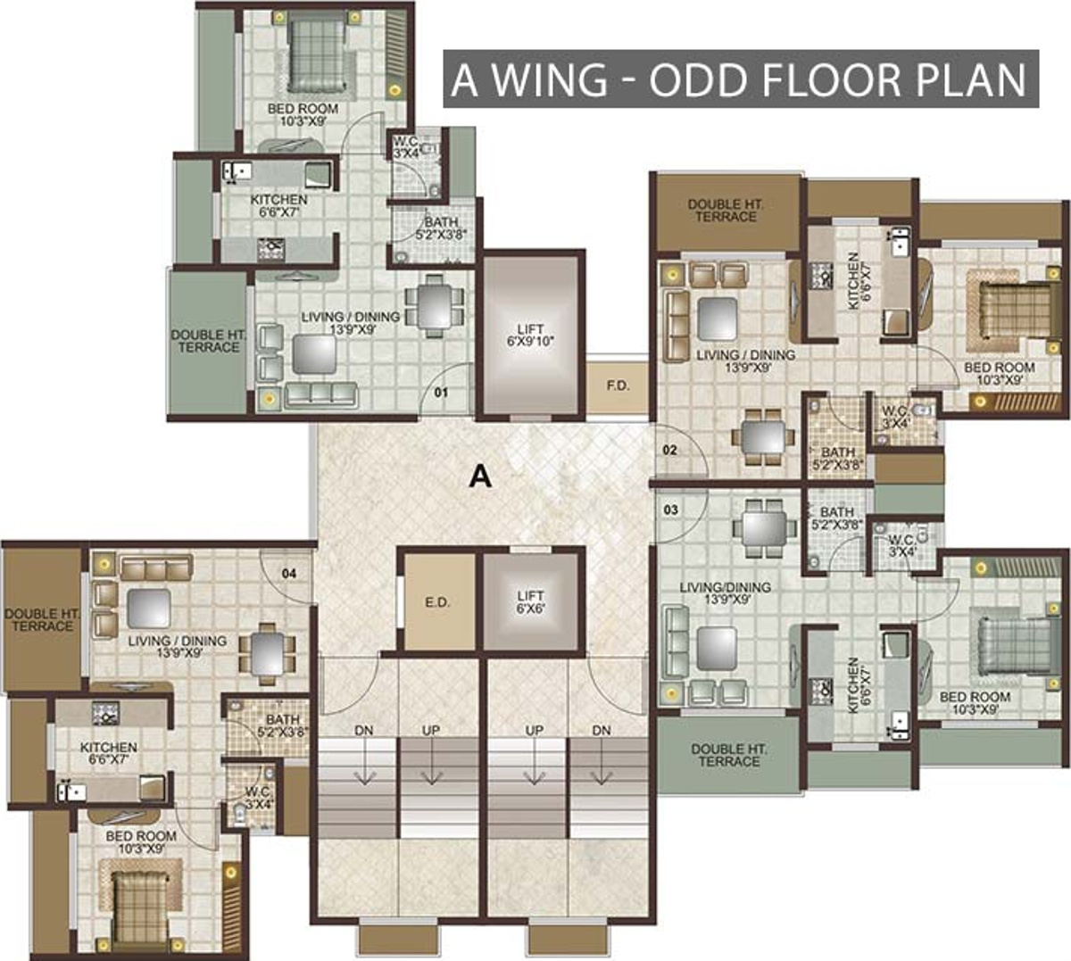 Images For Cluster Plan Of Lakhani Lakhanis Orchid Woods