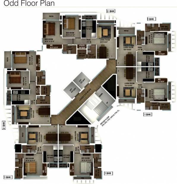 yogi-dham Images for Cluster Plan of Ajmera Yogi Dham