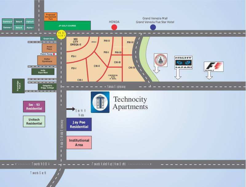 technocity Location Plan