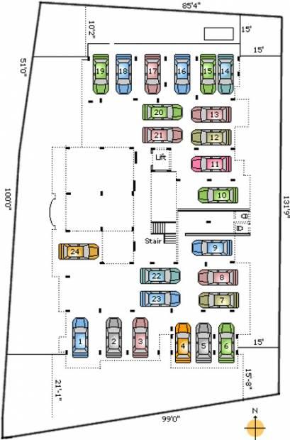 pranaam-foundations malnad-castle Malnad Castle Stilt Floor Cluster Plan