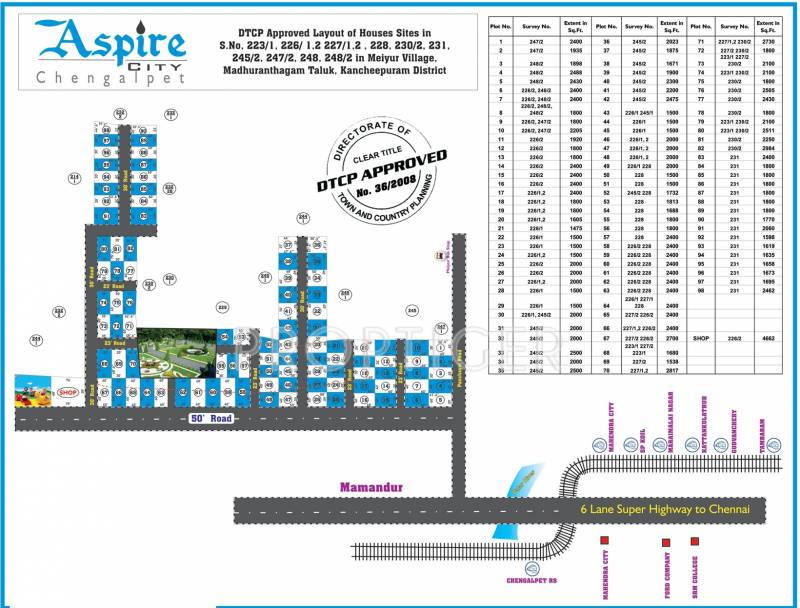 Layout Plan Image of Crystal Real homes Aspire City for sale ...