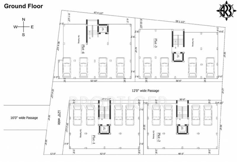 sri-raghavendra-builders guru-residency Cluster Plan for ground Floor