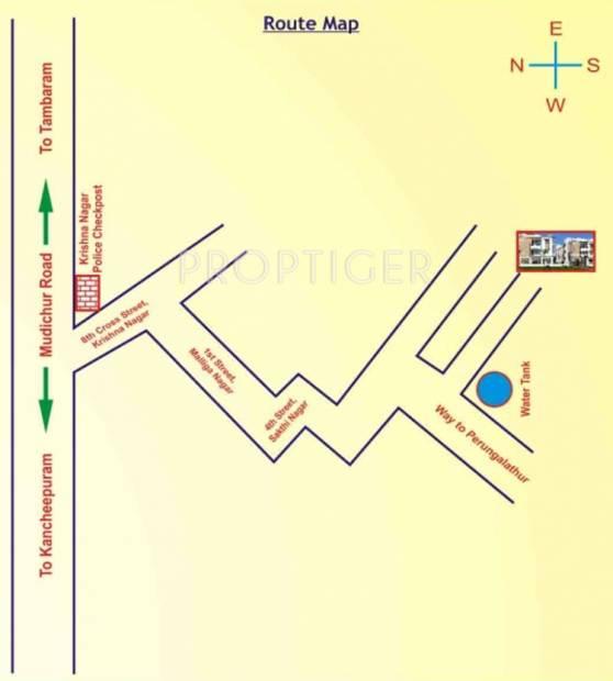 sri-raghavendra-builders guru-residency Location Plan