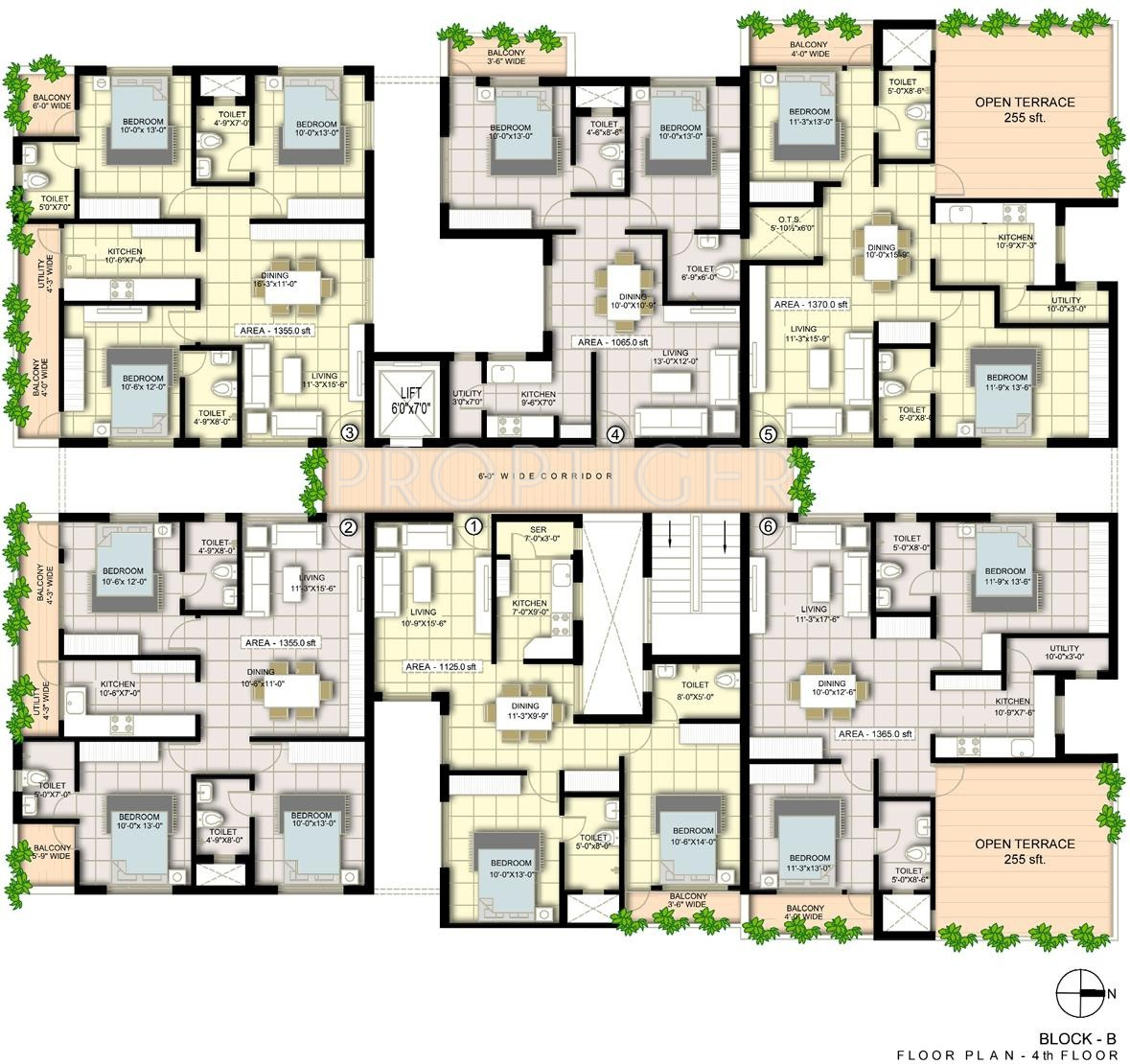 1540 sq ft 3 bhk 3t apartment for sale in advaita homes for Cluster house plans