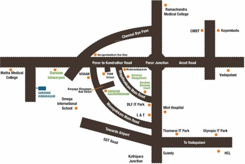 Images for Location Plan of Darshan Foundation Kumaragam