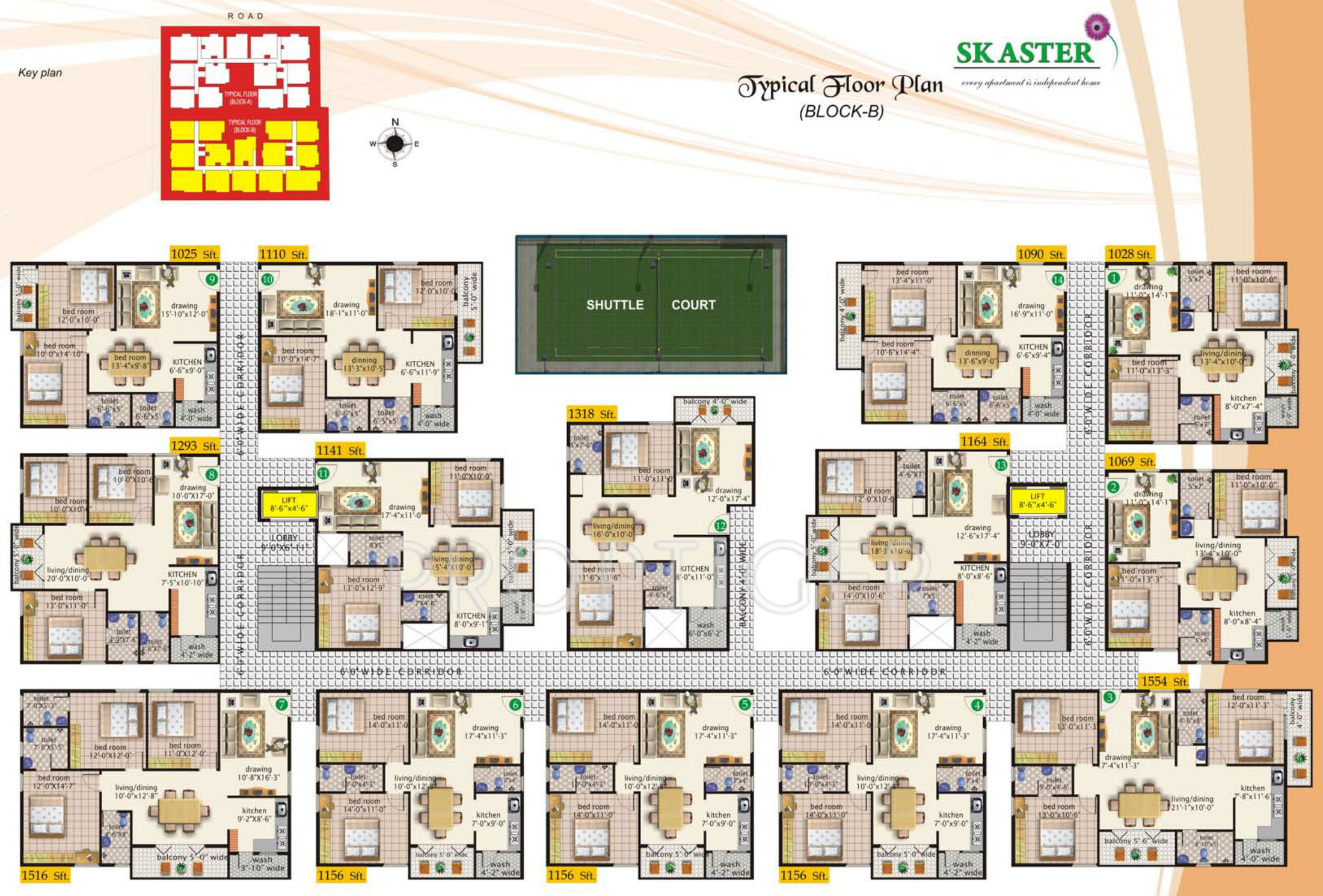 S K 1025 sq ft 2 bhk 2t apartment for sale in s k projects aster electronic city phase 1 bangalore