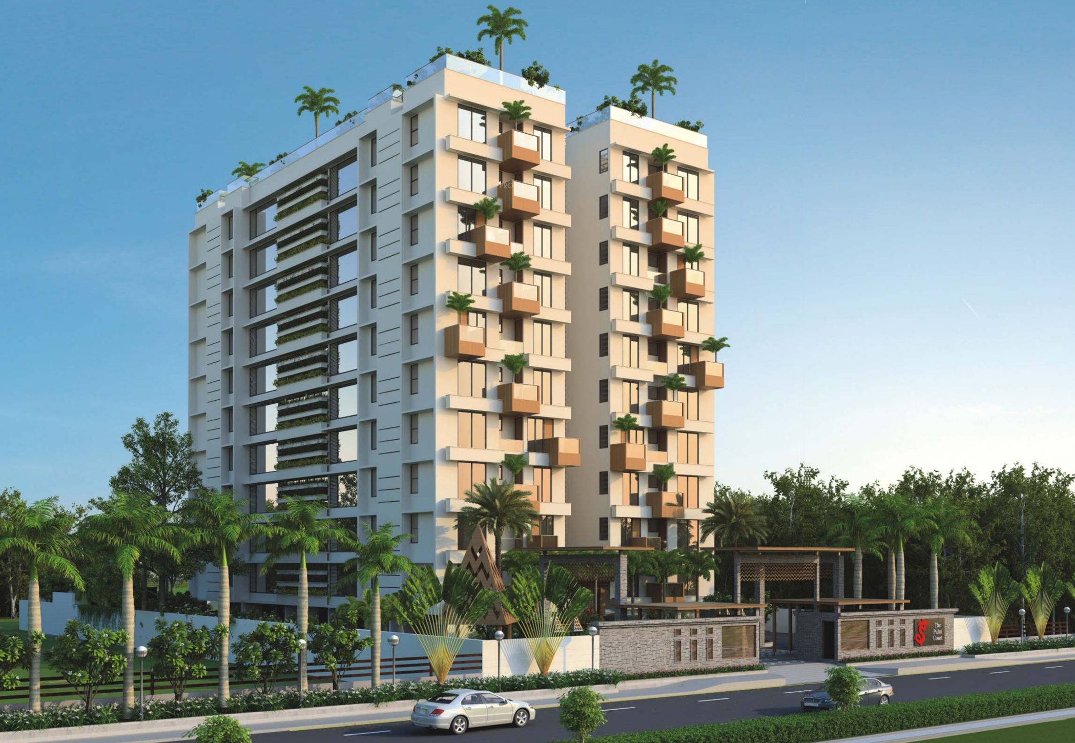 Main Elevation Image 1 Of Deep Group Indraprasth 10 The Palm Court Unit Available At Bodakdev