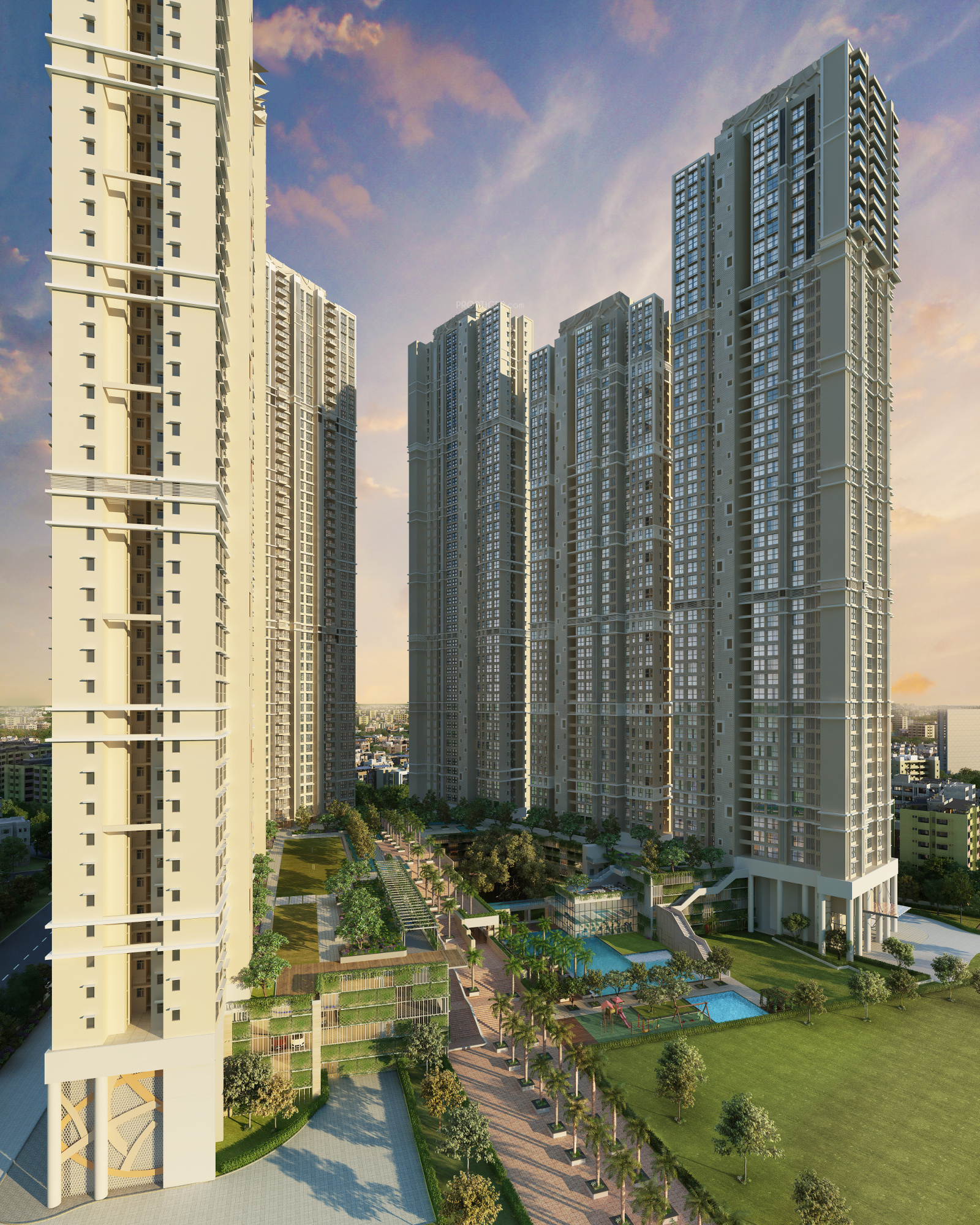 753 sq ft 2 BHK 2T Apartment for Sale in Runwal Realty