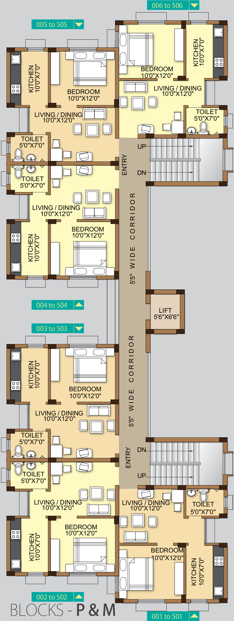 1444 sq ft 3 bhk 2t apartment for sale in acrux realcon for Banes planning