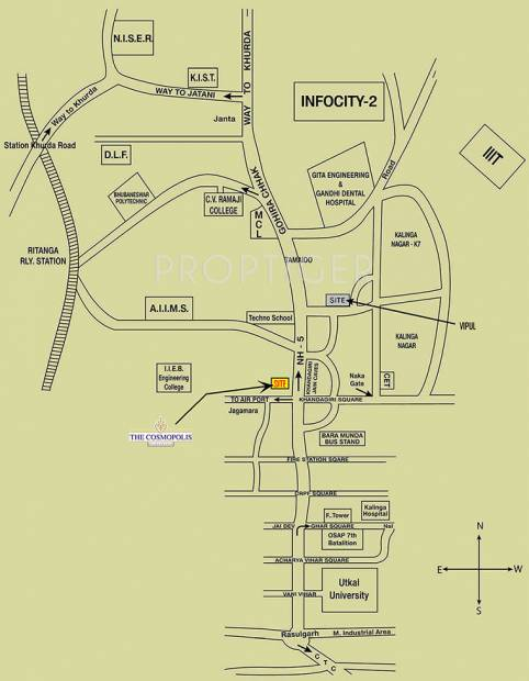 assotech the-cosmopolis Location Plan