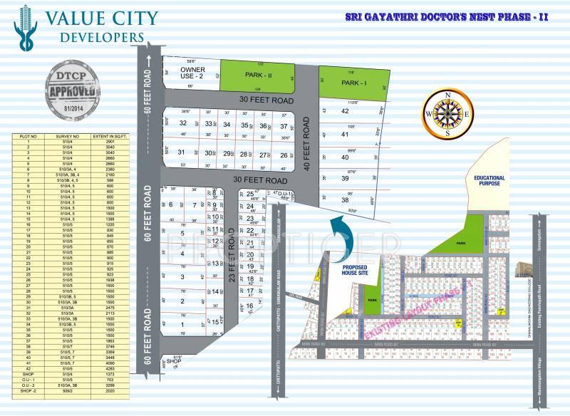 Images for Site Plan of Altis Sri Gayathri Doctors Nest
