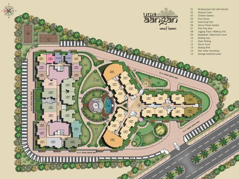 uma-aangan Images for Site Plan of Wish Uma Aangan