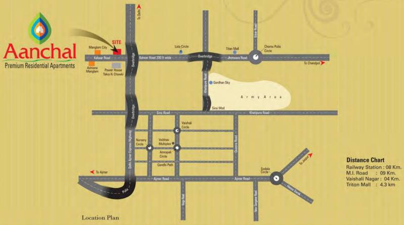 aanchal Images for Location Plan of Manglam Aanchal