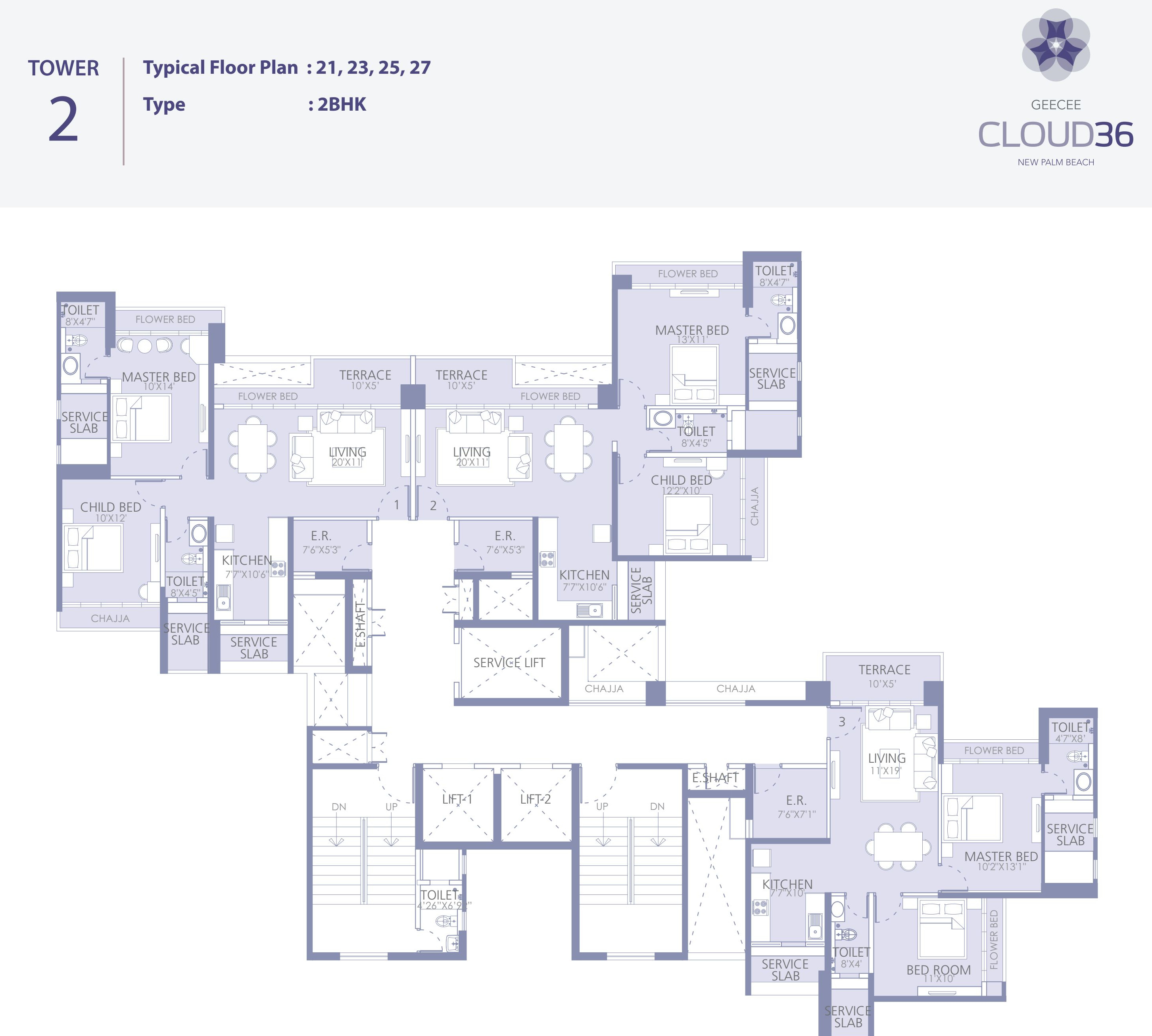 Gee Cee Cloud 36 Phase I In Ghansoli Mumbai Price Location Map Floor Plan Reviews Proptiger Com