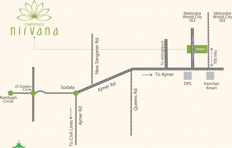 nirvana Images for Location Plan of Mahima Nirvana