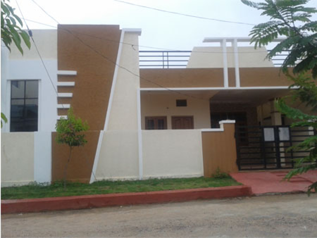 1200 sq ft 3 bhk 3t villa for sale in vrr constructions for Independent house elevation photos