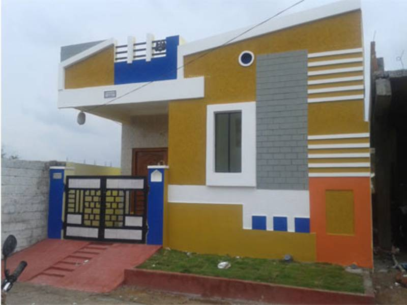 House Front Elevation Photos In Vijayawada : Main elevation image of vrr constructions greenpark