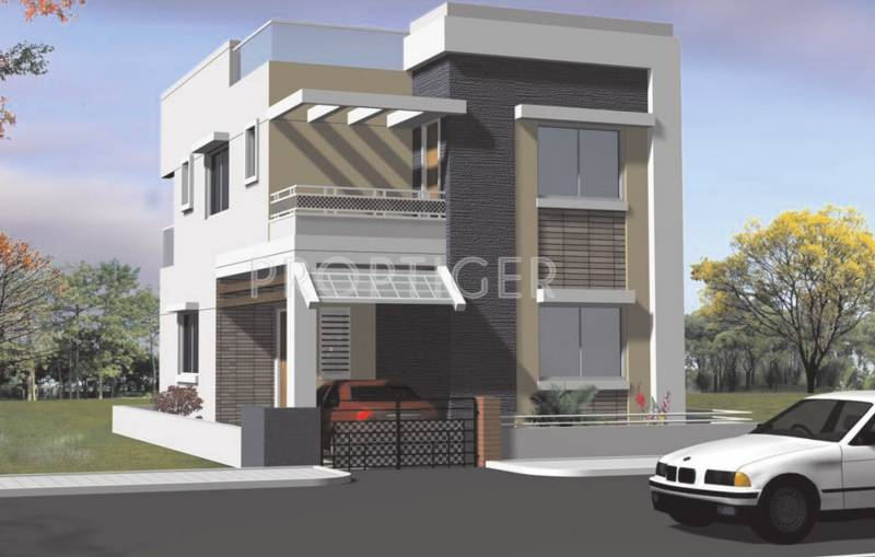 Main elevation image 1 of vrr constructions duplex houses for Duplex house elevation models