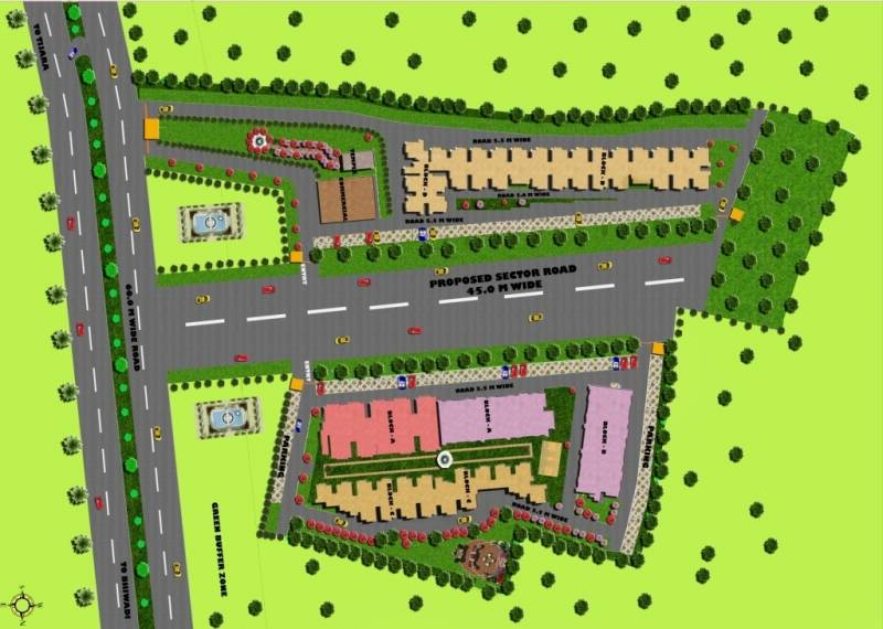Images for Site Plan of Trehan Delight Residence Tower D