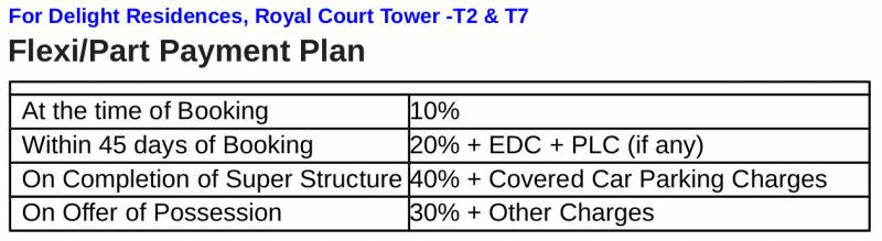 Images for Payment Plan of Trehan Delight Residence Tower D