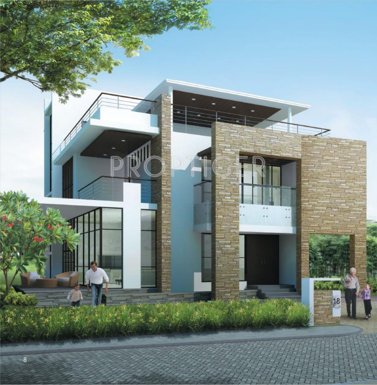 4041 Sq Ft 4 Bhk 4t Villa For Sale In Prestige Group White