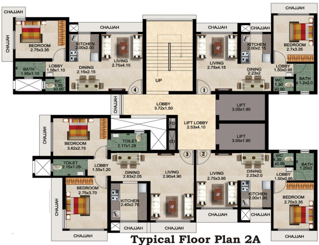 576 sq ft 2 bhk 2t apartment for sale in mauli sai for 576 sq ft floor plan