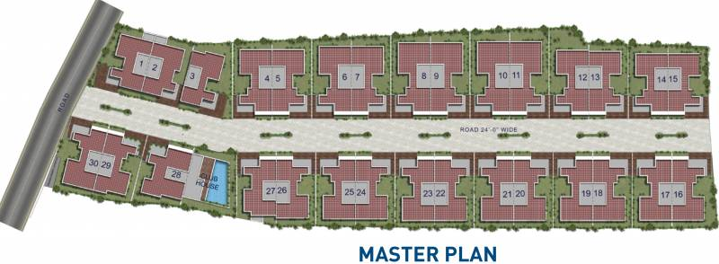 lake-front Images for Master Plan of Radiance Lake Front
