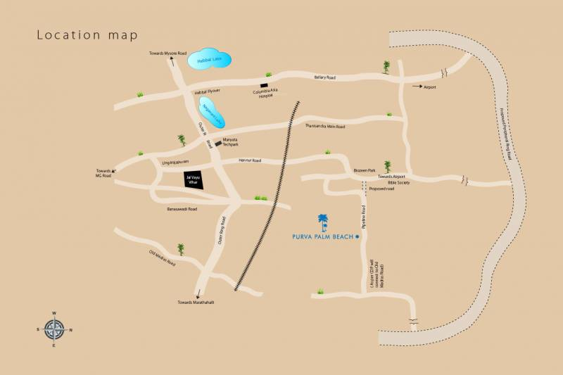 Images for Location Plan of Purva Palm Beach