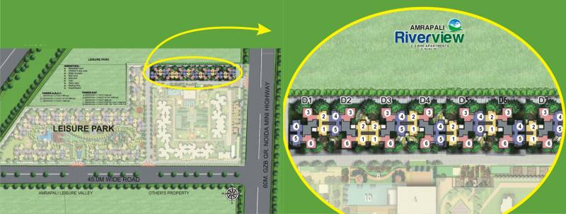 riverview Images for Site Plan of Amrapali Riverview