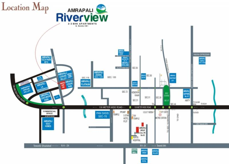 riverview Images for Location Plan of Amrapali Riverview