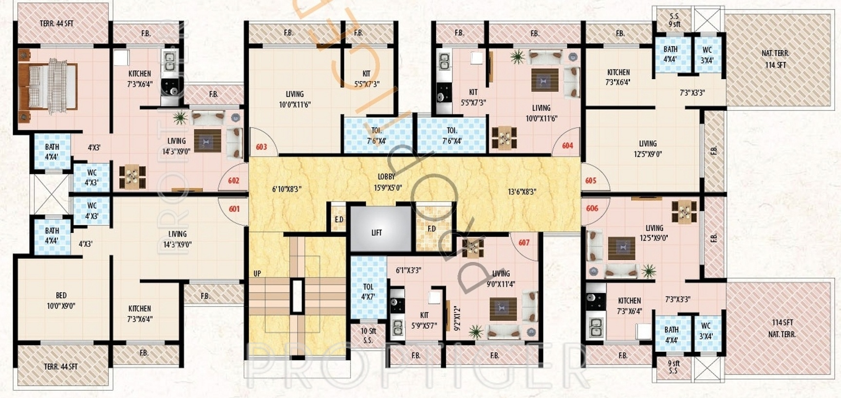 445 Sq Ft 1 Bhk 1t Apartment For Sale In Incity Group