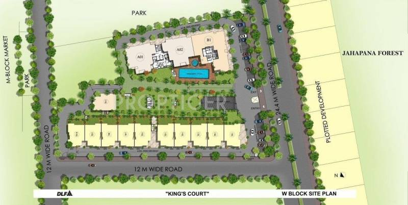 Images for Site Plan of DLF Kings Court Villa
