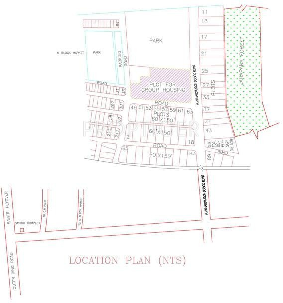 Images for Location Plan of DLF Kings Court Villa