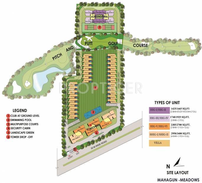 Images for Layout Plan of Mahagun Mahagun Meadows